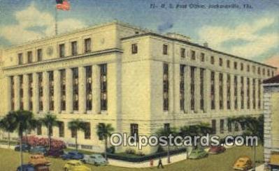 pst001297 - Jacksonville, FL USA,  Post Office Postcard, Postoffice Post Card Old Vintage Antique