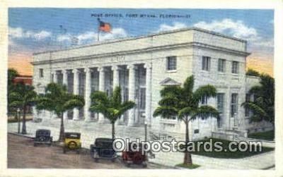 pst001299 - Fort Myer, FL USA,  Post Office Postcard, Postoffice Post Card Old Vintage Antique