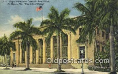 pst001300 - Ft Myers, FL USA,  Post Office Postcard, Postoffice Post Card Old Vintage Antique
