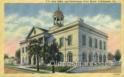 pst001304 - Tallahassee, FL USA,  Post Office Postcard, Postoffice Post Card Old Vintage Antique