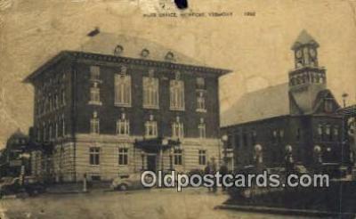 pst001314 - Newport, VT USA,  Post Office Postcard, Postoffice Post Card Old Vintage Antique