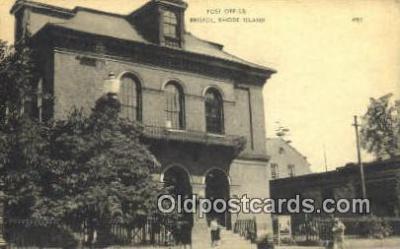 pst001316 - Bristol, RI USA,  Post Office Postcard, Postoffice Post Card Old Vintage Antique