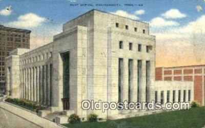 pst001320 - Chattanooga, TN USA,  Post Office Postcard, Postoffice Post Card Old Vintage Antique