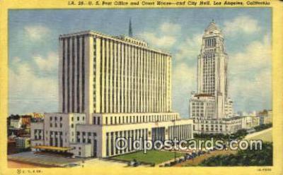 pst001321 - Los Angeles, CA USA,  Post Office Postcard, Postoffice Post Card Old Vintage Antique