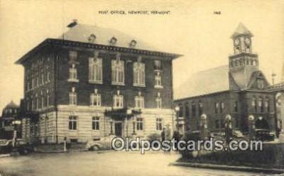 pst001322 - Newport, VT USA,  Post Office Postcard, Postoffice Post Card Old Vintage Antique