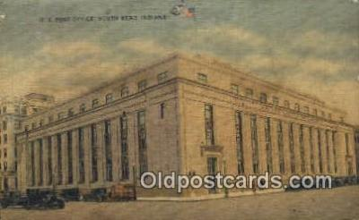 pst001331 - South Bend, IN USA,  Post Office Postcard, Postoffice Post Card Old Vintage Antique