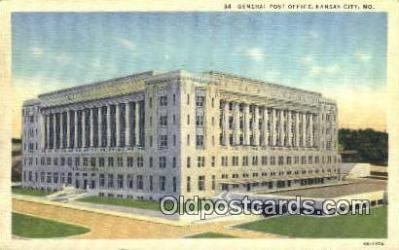pst001333 - Kansas City, MO USA,  Post Office Postcard, Postoffice Post Card Old Vintage Antique