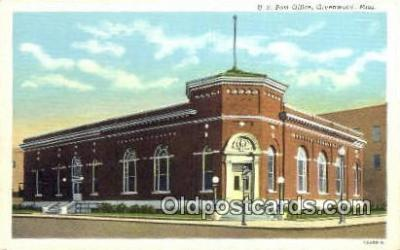 pst001337 - Greenwood, Miss USA,  Post Office Postcard, Postoffice Post Card Old Vintage Antique