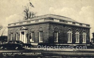 pst001355 - Branford, CT USA,  Post Office Postcard, Postoffice Post Card Old Vintage Antique