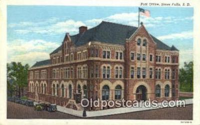pst001365 - Sioux Falls, SD USA,  Post Office Postcard, Postoffice Post Card Old Vintage Antique