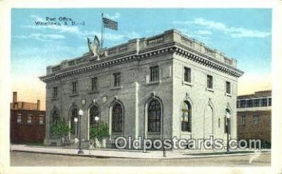 pst001366 - Watertown, SD USA,  Post Office Postcard, Postoffice Post Card Old Vintage Antique