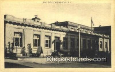 pst001369 - Woonsocket, RI USA,  Post Office Postcard, Postoffice Post Card Old Vintage Antique