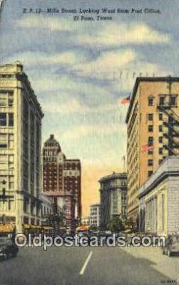 pst001377 - El Paso, TX USA,  Post Office Postcard, Postoffice Post Card Old Vintage Antique