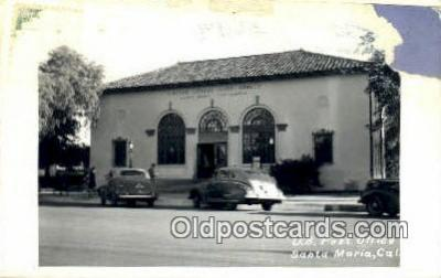 pst001381 - Santa Maria, CA USA,  Post Office Postcard, Postoffice Post Card Old Vintage Antique