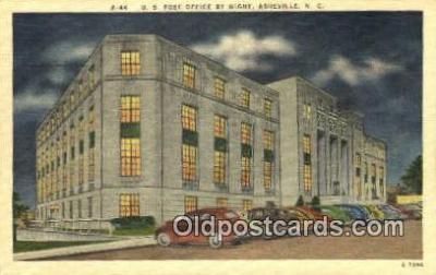 pst001388 - Asheville, NC USA,  Post Office Postcard, Postoffice Post Card Old Vintage Antique