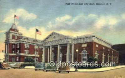 pst001390 - Geneva, NY USA,  Post Office Postcard, Postoffice Post Card Old Vintage Antique