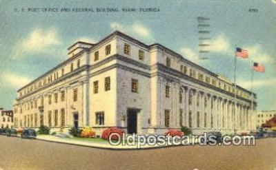 pst001397 - Miami, FL USA,  Post Office Postcard, Postoffice Post Card Old Vintage Antique