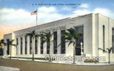 pst001402 - San Diego, CA USA,  Post Office Postcard, Postoffice Post Card Old Vintage Antique