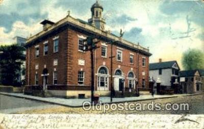 pst001410 - New London, Conn USA,  Post Office Postcard, Postoffice Post Card Old Vintage Antique