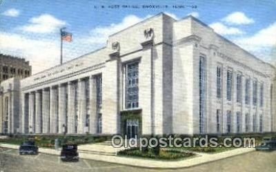 pst001430 - Knoxville, TN USA,  Post Office Postcard, Postoffice Post Card Old Vintage Antique
