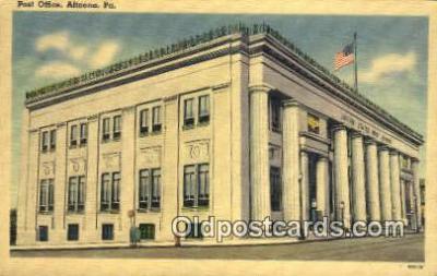 pst001434 - Altoona, PA USA,  Post Office Postcard, Postoffice Post Card Old Vintage Antique