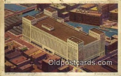 pst001449 - Chicago, IL USA,  Post Office Postcard, Postoffice Post Card Old Vintage Antique