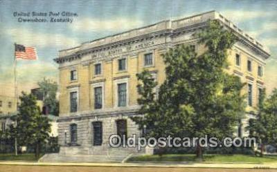 pst001456 - Owensboro, KY USA,  Post Office Postcard, Postoffice Post Card Old Vintage Antique