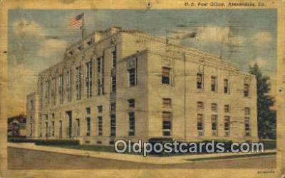 pst001457 - Alexandria, LA USA,  Post Office Postcard, Postoffice Post Card Old Vintage Antique
