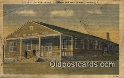 pst001464 - Sampson, NY USA,  Post Office Postcard, Postoffice Post Card Old Vintage Antique