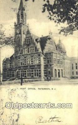 pst001465 - Paterson, NJ USA,  Post Office Postcard, Postoffice Post Card Old Vintage Antique