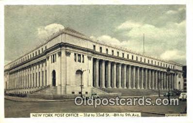 pst001469 - New York, NY USA,  Post Office Postcard, Postoffice Post Card Old Vintage Antique