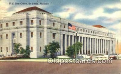 pst001471 - St Louis, MO USA,  Post Office Postcard, Postoffice Post Card Old Vintage Antique