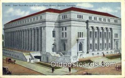 pst001475 - Denver, CO USA,  Post Office Postcard, Postoffice Post Card Old Vintage Antique