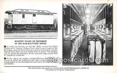 Seventy Years of Progress, Railway Post Office