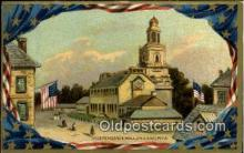 pat001053 - Independence Hall, Philadelphia PA USA Patriotic Postcard Postcards