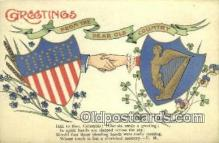 pat001096 - Patriotic, Old Vintage Antique Postcard Post Card