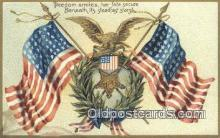 pat001100 - Patriotic, Old Vintage Antique Postcard Post Card