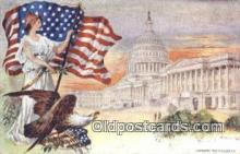 pat001105 - Patriotic, Old Vintage Antique Postcard Post Card