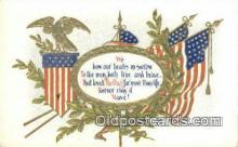 pat001134 - Patriotic, Old Vintage Antique Postcard Post Card