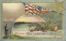 pat001211 - Patriotic, Old Vintage Antique Postcard Post Card