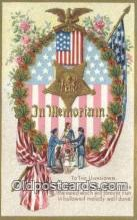pat001250 - Patriotic, Old Vintage Antique Postcard Post Card