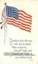 pat001265 - Patriotic, Old Vintage Antique Postcard Post Card