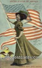 pat001288 - Patriotic, Old Vintage Antique Postcard Post Card