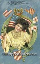 pat001289 - Patriotic, Old Vintage Antique Postcard Post Card