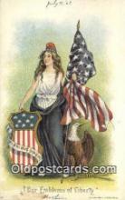 pat001300 - Patriotic, Old Vintage Antique Postcard Post Card