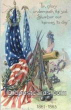 pat001310 - Patriotic, Old Vintage Antique Postcard Post Card