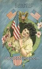 pat001314 - Patriotic, Old Vintage Antique Postcard Post Card