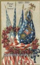 pat001317 - Patriotic, Old Vintage Antique Postcard Post Card