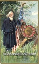 pat001318 - Patriotic, Old Vintage Antique Postcard Post Card