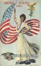 pat001321 - Patriotic, Old Vintage Antique Postcard Post Card